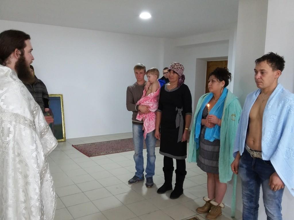 Таинство Крещения в храме святителя Николая Чудотворца г. Талгар